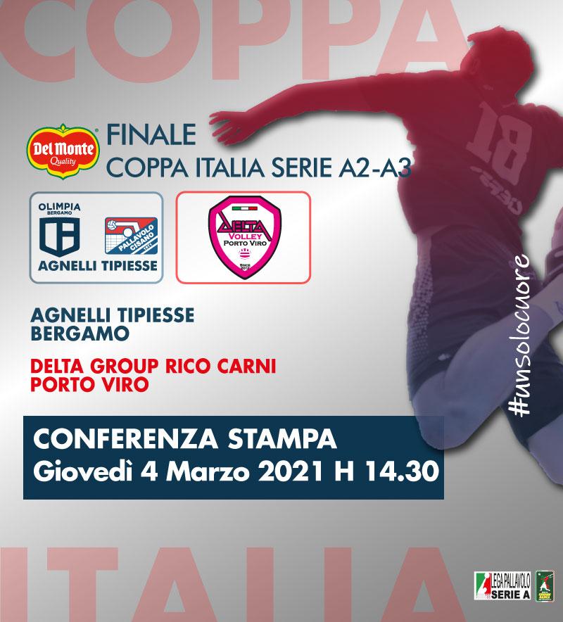 La Finale Del Monte® Coppa Italia A2/A3 sarà a Cisano, in diretta Rai! Domani la videoconferenza di presentazione