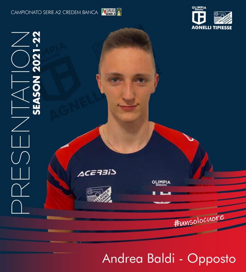 Un giovane talento a disposizione di coach Graziosi: Andrea Baldi nel ruolo di secondo opposto