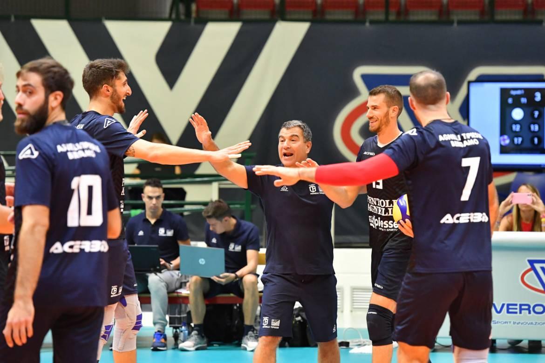 Il test match con Vero Volley finisce in parità: prestazione super per gli orobici